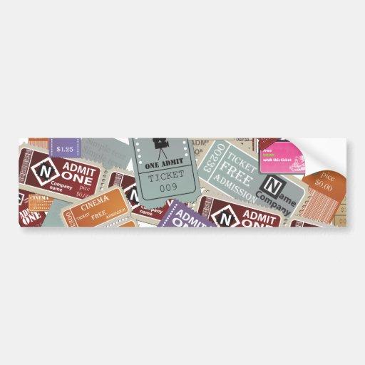 Cinema Ticket's Bumper Sticker