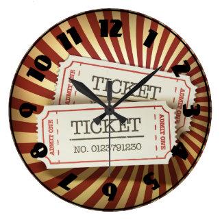 Cinema Tickets Clock