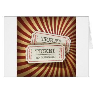 Cinema Tickets Greeting Cards