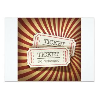 "Cinema Tickets Invitations 5"" X 7"" Invitation Card"
