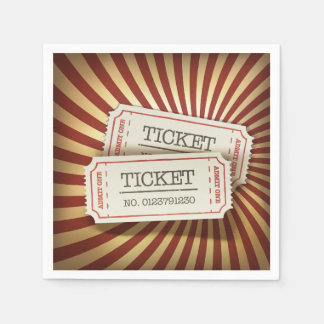 Cinema Tickets Paper Napkins