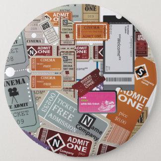 Cinema Ticket's Pinback Button
