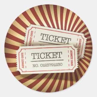 Cinema Tickets Stickers Round Stickers