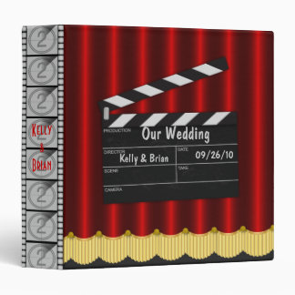 Cinema Wedding Album or Planner 3 Ring Binder