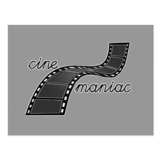 Cinemaniac con la tira de la película postales