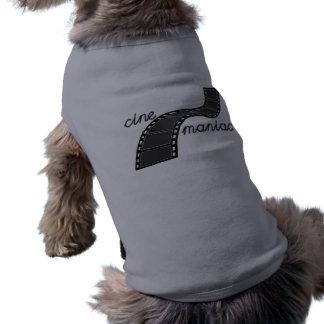 Cinemaniac with Film Strip Dog T Shirt