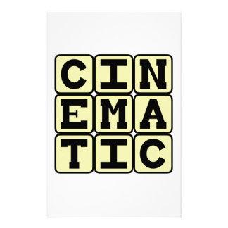 Cinematic Like A Movie Stationery