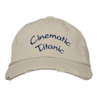 Cinematic Titanic cap Embroidered Hats
