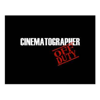 CINEMATOGRAPHER DARK POSTCARD