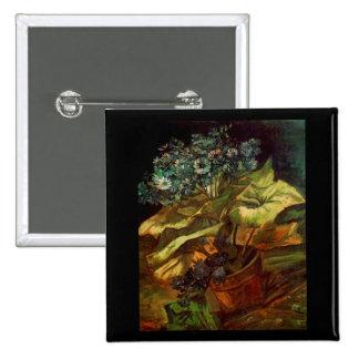 Cineraria in a Flowerpot, Vincent van Gogh 2 Inch Square Button