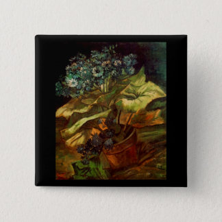 Cineraria in a Flowerpot, Vincent van Gogh Pinback Button