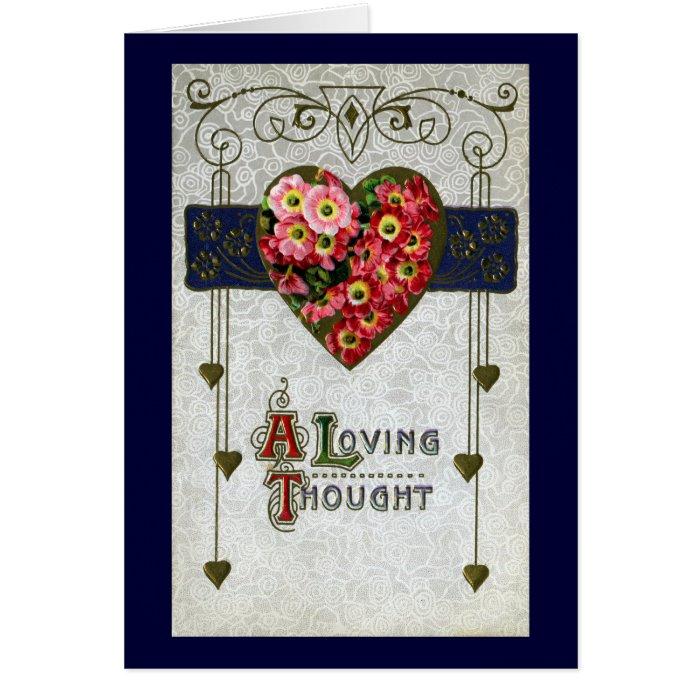Cinerarias Vintage Valentine Card