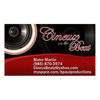 Cineux on the Beat Business Card Templates