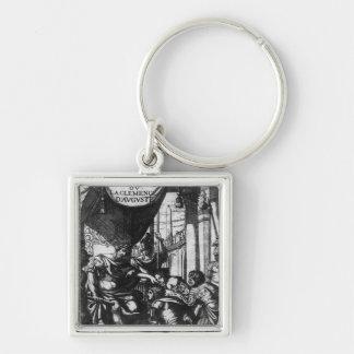 'Cinna ou la Clemence d'Auguste' Silver-Colored Square Keychain