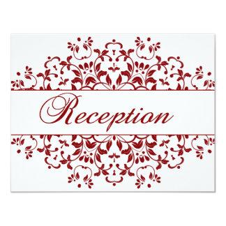 Cinnabar Floral Wedding Suite-Reception Card