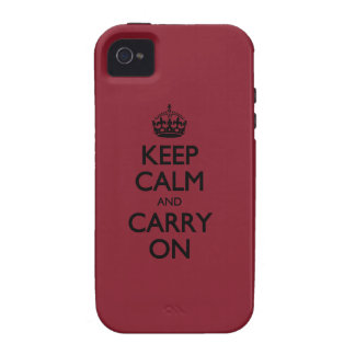 Cinnabar Keep Calm And Carry On Case For The iPhone 4