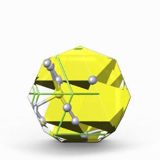 Cinnabar molecule acrylic award