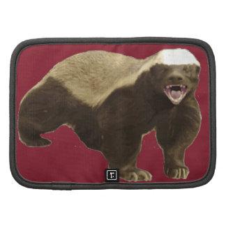 Cinnabar Red Honey Badger Don't Care Pattern Planner