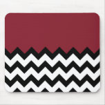 Cinnabar Red Pattern On Large Zigzag Chevron Mouse Pad