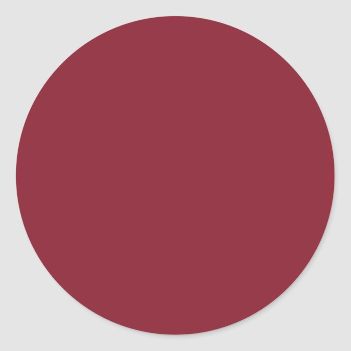 Cinnabar Solid Color - Customizable Classic Round Sticker