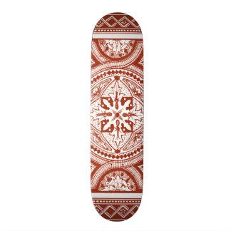 Cinnabar Woodblock IV Skateboard