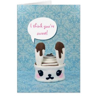 Cinnabunny with Custom Text Bubble Greeting Cards