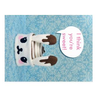 Cinnabunny with Custom Word Bubble Postcard