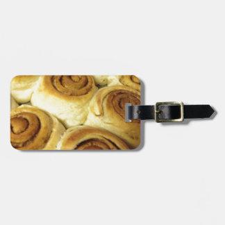 cinnamin rolls luggage tags