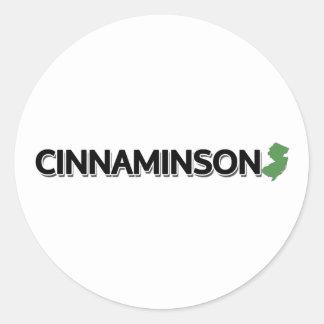 Cinnaminson, New Jersey Pegatina Redonda
