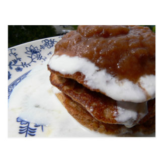 Cinnamon Almond Pancakes Post Card