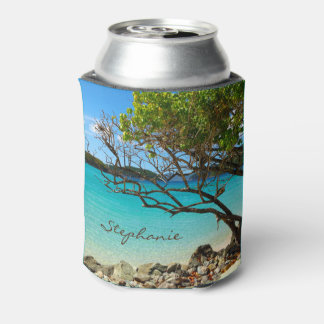 Cinnamon Bay St. John USVI Personalized Can Cooler