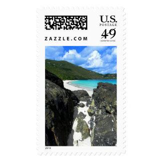 Cinnamon Bay, St. John, USVI photo art Postage Stamp