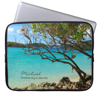 Cinnamon Bay St. John USVI Tropical Laptop Sleeve