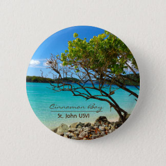 Cinnamon Bay St. John USVI Tropical Pin Button
