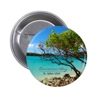 Cinnamon Bay St. John USVI Tropical Pin Button