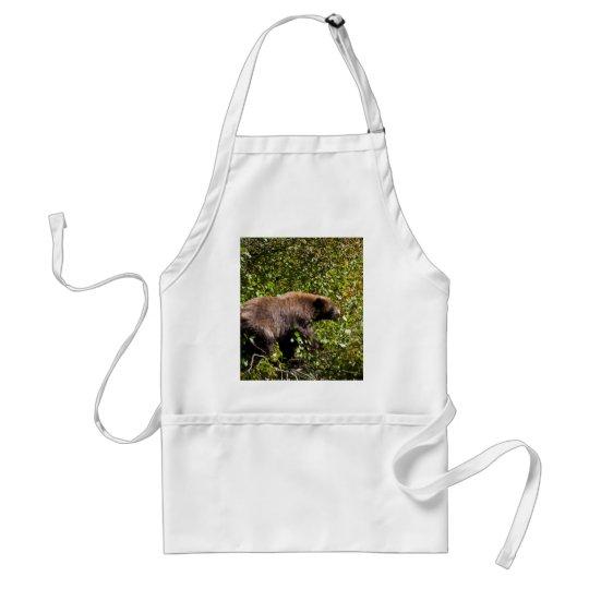 Cinnamon Black Bear Adult Apron