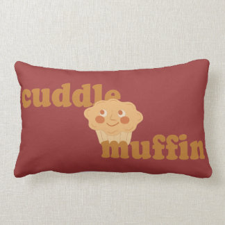 Cinnamon Brown Cuddle Muffin Lumbar Pillow