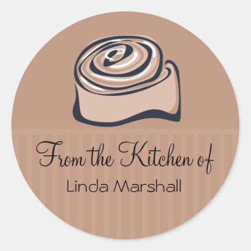 Cinnamon Bun From the Kitchen Of Baking Classic Round Sticker