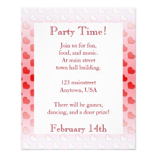 Cinnamon Candy Hearts Red and Pink Flyer