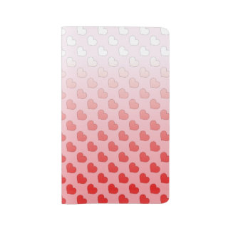 Cinnamon Candy Hearts Red and Pink Large Moleskine Notebook Cover With Notebook