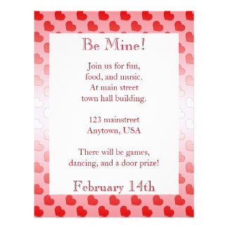 Cinnamon Candy Hearts Red and Pink Letterhead