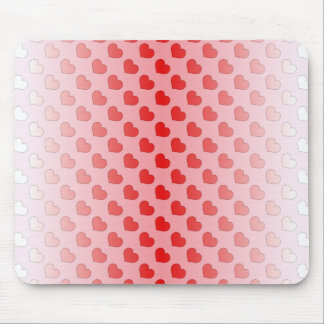 Cinnamon Candy Hearts Red and Pink Mouse Pad