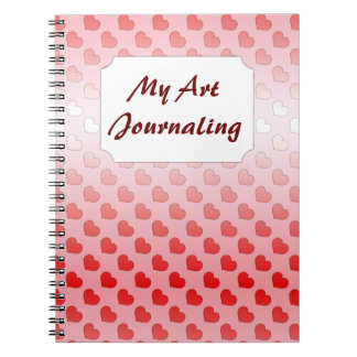 Cinnamon Candy Hearts Red and Pink Spiral Note Books