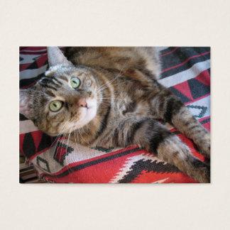 cinnamon cat aceo atc business card