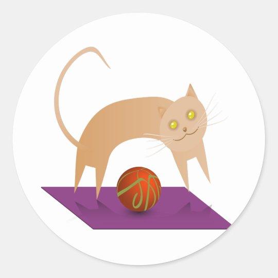 Cinnamon Cat Classic Round Sticker