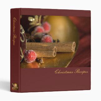 Cinnamon · Christmas Recipes Binder