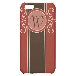 Cinnamon Classic Harvest Monogram  Case For iPhone 5C