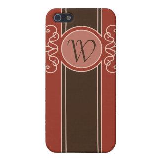 Cinnamon Classic Harvest Monogram  iPhone 5 Covers