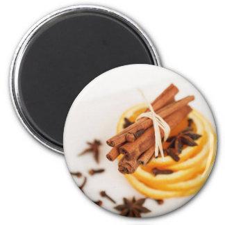 Cinnamon Clove Orange Refrigerator Magnets
