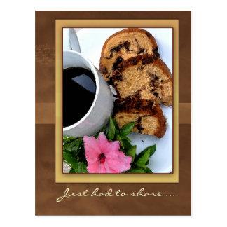 cinnamon coffee cake postcard
